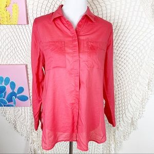Chico's pink lightweight button front blouse 2
